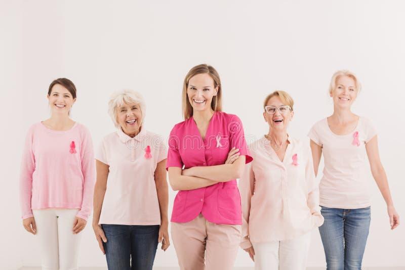 Campaña de concienciación social del cáncer de pecho imagen de archivo libre de regalías