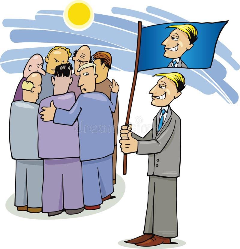 Campaña electoral de  ilustración del vector