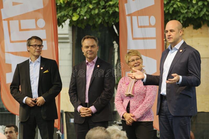 Campaña electoral de sueca fotos de archivo