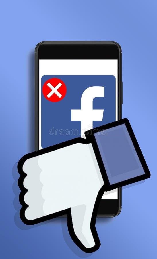 Campaña social para suprimir las cuentas de Facebook imágenes de archivo libres de regalías