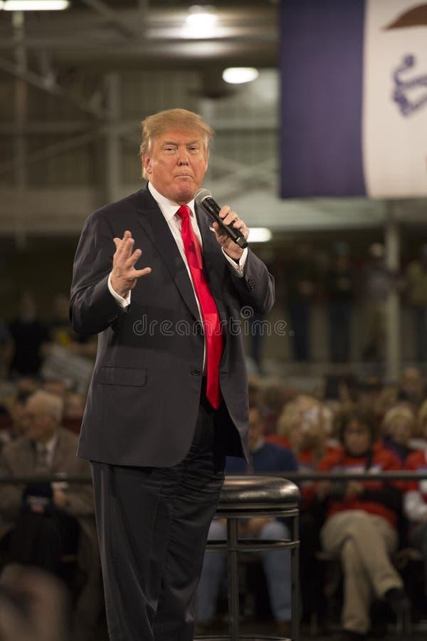 Campañas de Donald Trump en Iowa imagen de archivo libre de regalías