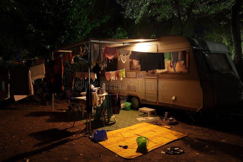 campa husvagnlokal arkivbilder