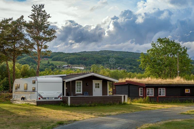 Campa kabiner för norrman royaltyfri fotografi