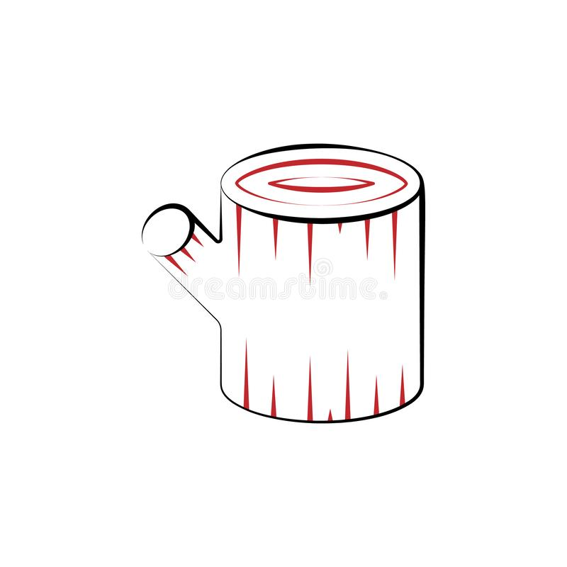Campa kulör linje symbol för journal 2 För färgbeståndsdel för enkel hand utdragen illustration Campa design för journalöversikts royaltyfri illustrationer