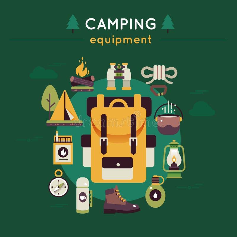 Campa kulör sammansättning royaltyfri illustrationer