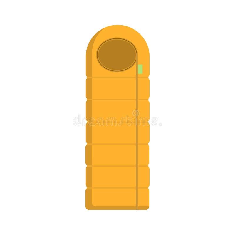 Campa plan symbol för turist- sovsäck Isolerat avbilda stock illustrationer