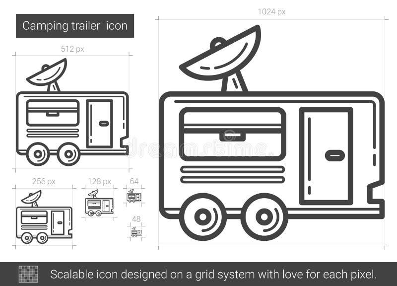 Campa släplinje symbol vektor illustrationer