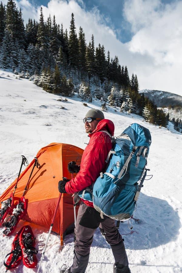 campa snow arkivfoton
