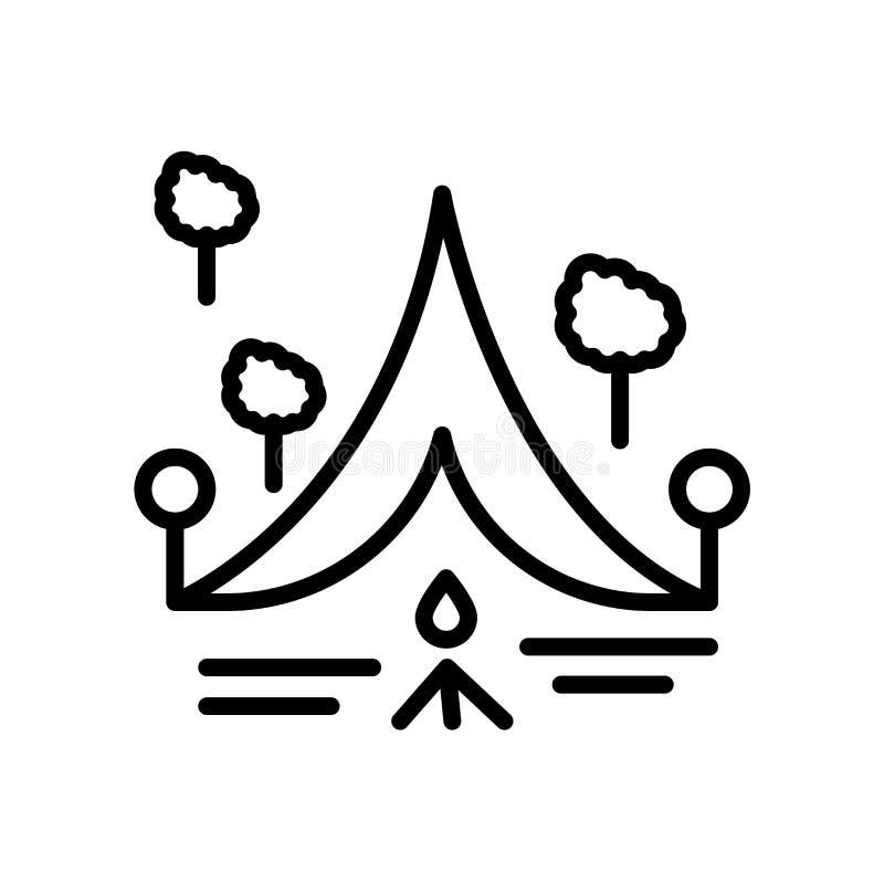 Campa symbol som isoleras på vit bakgrund royaltyfri illustrationer