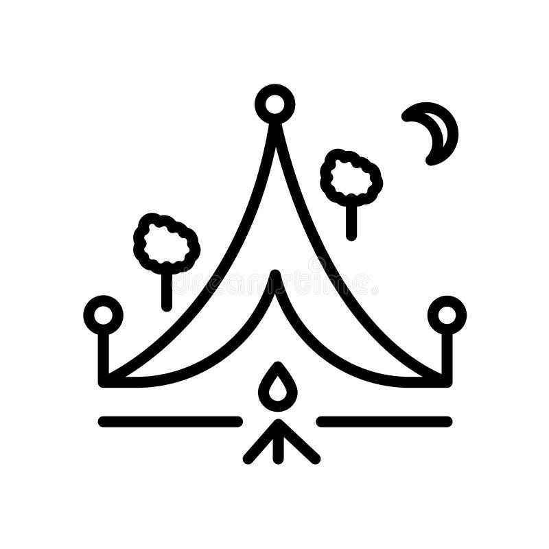 Campa symbol som isoleras på vit bakgrund vektor illustrationer