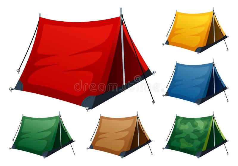 Campa tent   royaltyfri illustrationer