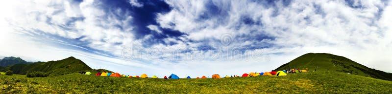 campa tents fotografering för bildbyråer