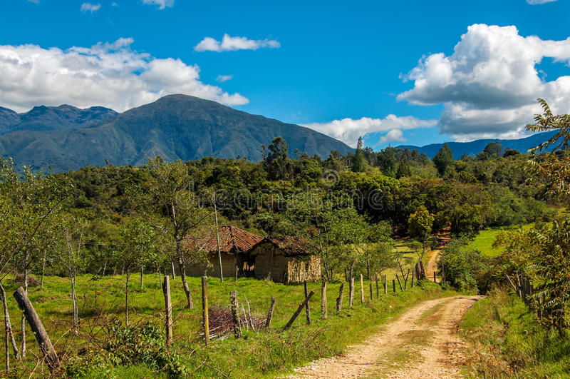 Campagna in Boyaca, Colombia immagine stock libera da diritti