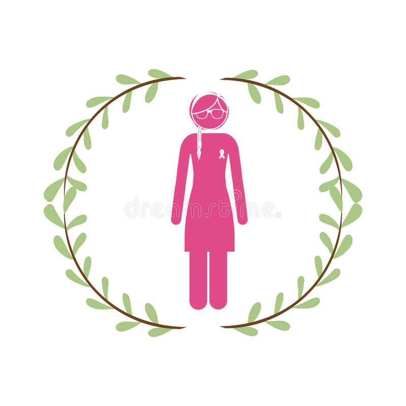 Campagna del cancro al seno royalty illustrazione gratis