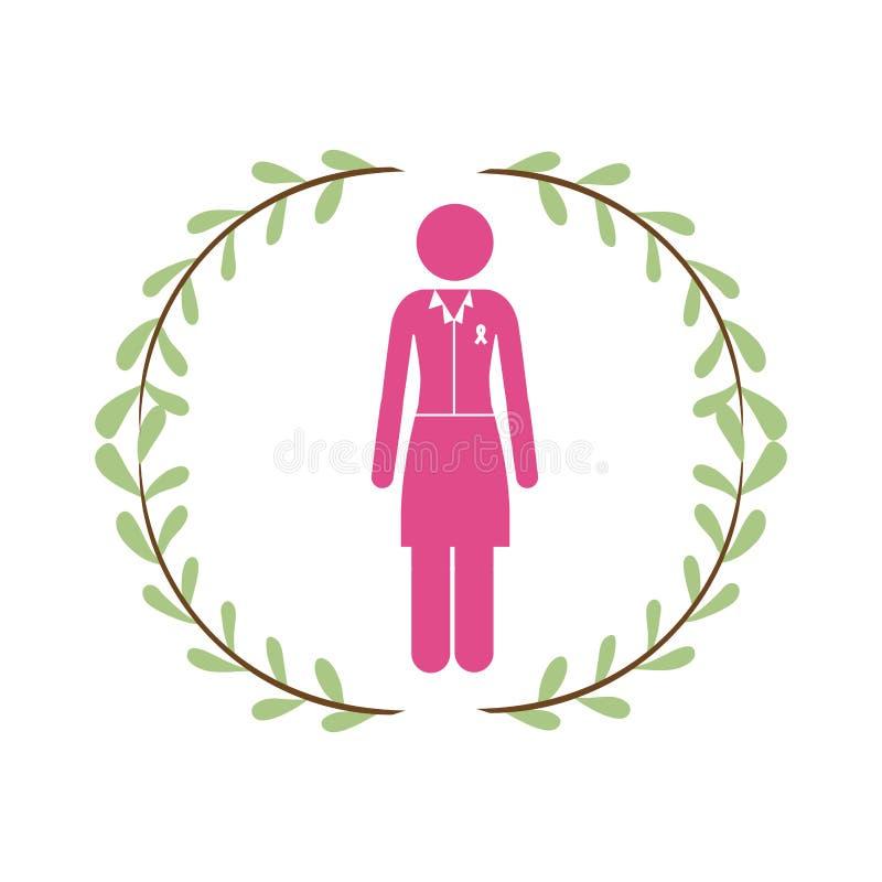 Campagna del cancro al seno illustrazione vettoriale
