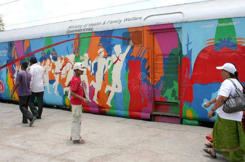 Campagna di informazione di AIDS/HIV, Haidarabad, India fotografia stock