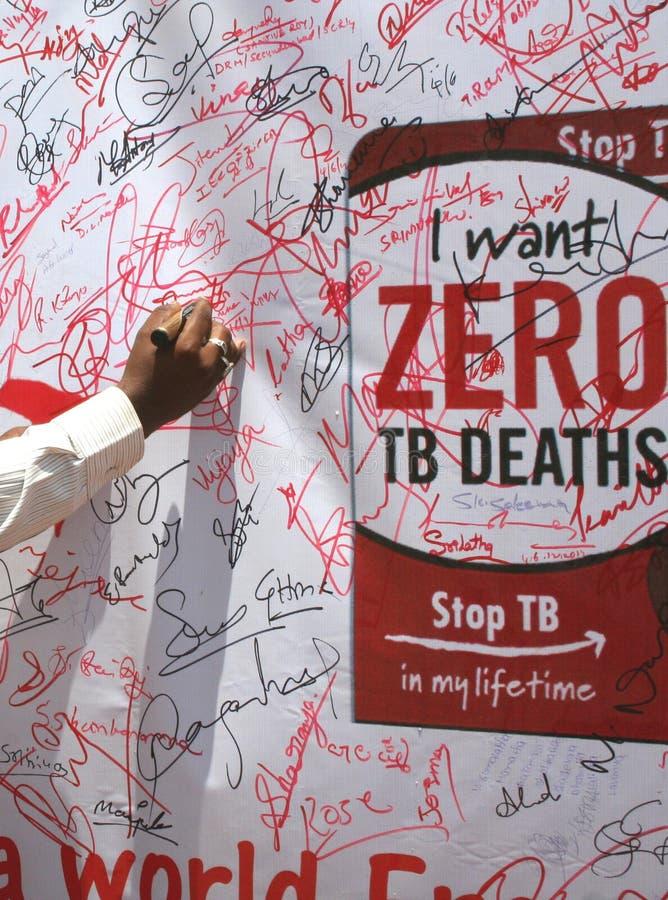 Campagna di informazione di tubercolosi immagine stock