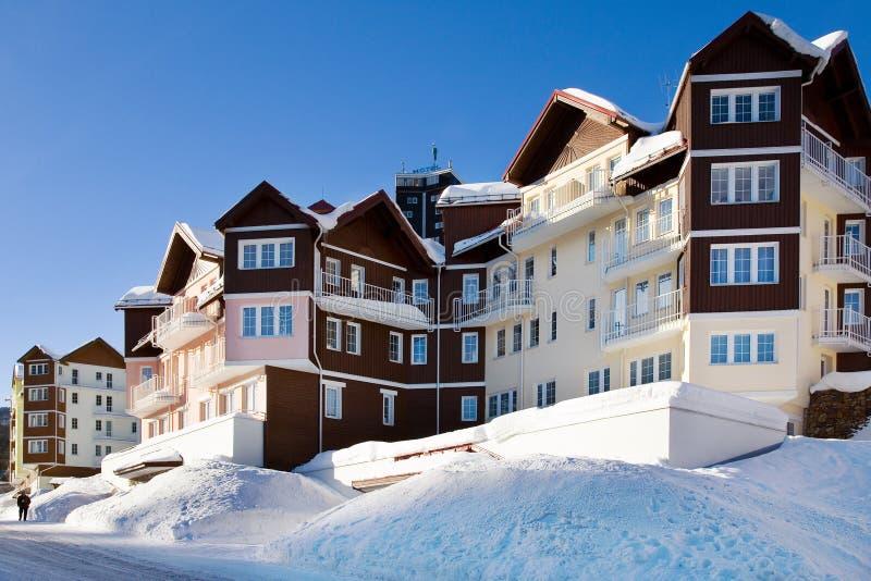 Campagna di inverno di Snowy, supporto di Snezka - hora di Ruzova, Krkonose fotografie stock libere da diritti