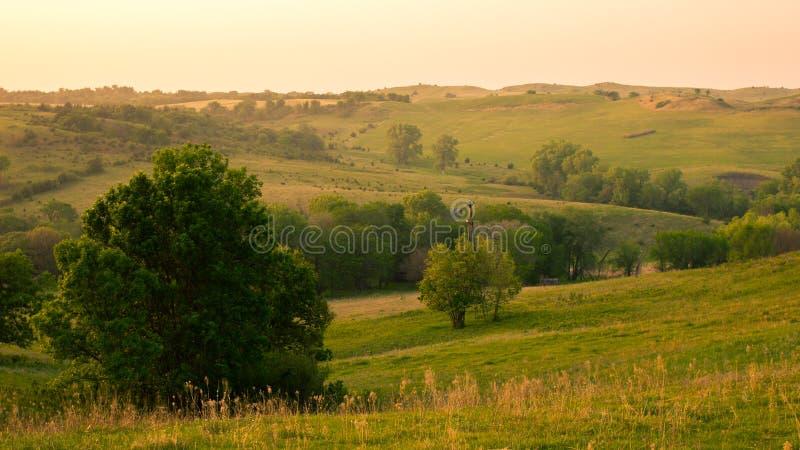 Campagna di nordest del Nebraska immagini stock