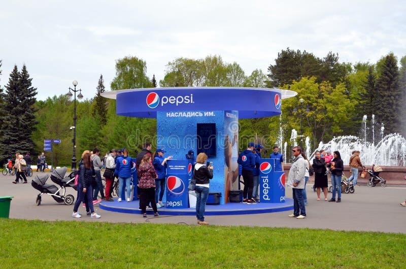 Campagna pubblicitaria di Pepsi fotografia stock