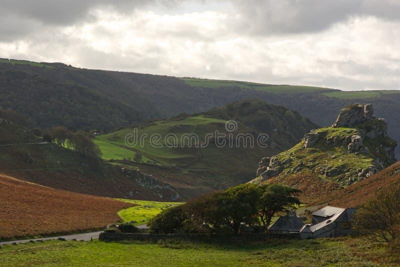 Campagna vicino a Lynton, Devon, Inghilterra fotografia stock libera da diritti