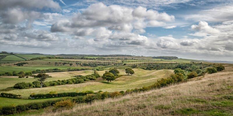 Campagne anglaise la Rolling Hills de Dorset photo stock