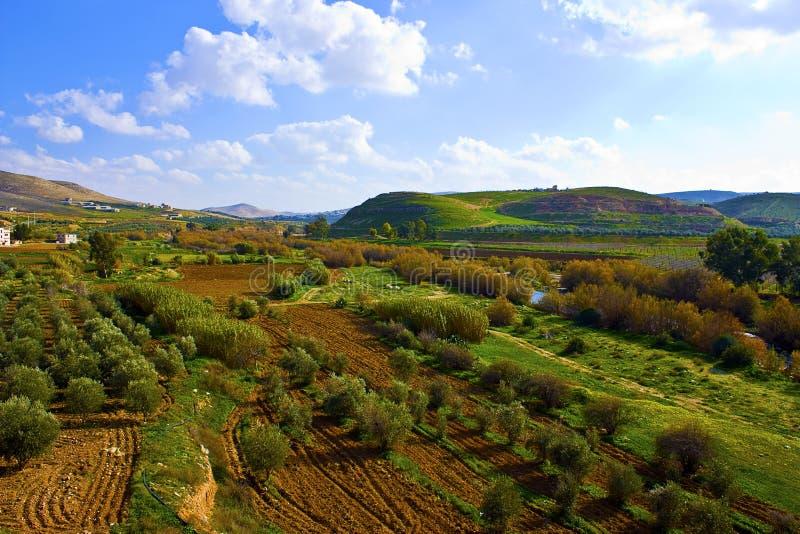 Campagne de la Jordanie images libres de droits