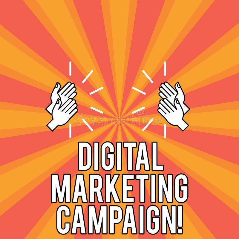 Campagne de marketing de Digital des textes d'écriture Concept signifiant l'effort marketing en ligne pour annoncer le dessin de  illustration libre de droits