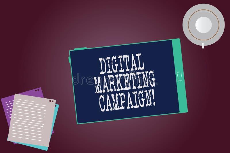Campagne de marketing de Digital des textes d'écriture de Word Concept d'affaires pour que l'effort marketing en ligne annonce la illustration libre de droits