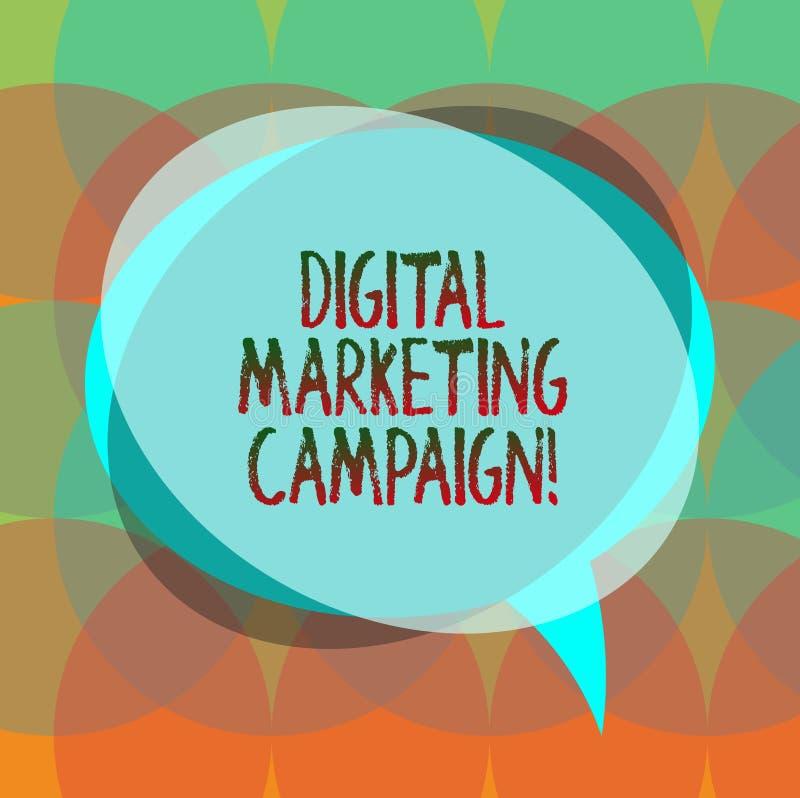 Campagne de marketing de Digital des textes d'écriture de Word Concept d'affaires pour que l'effort marketing en ligne annonce le illustration de vecteur