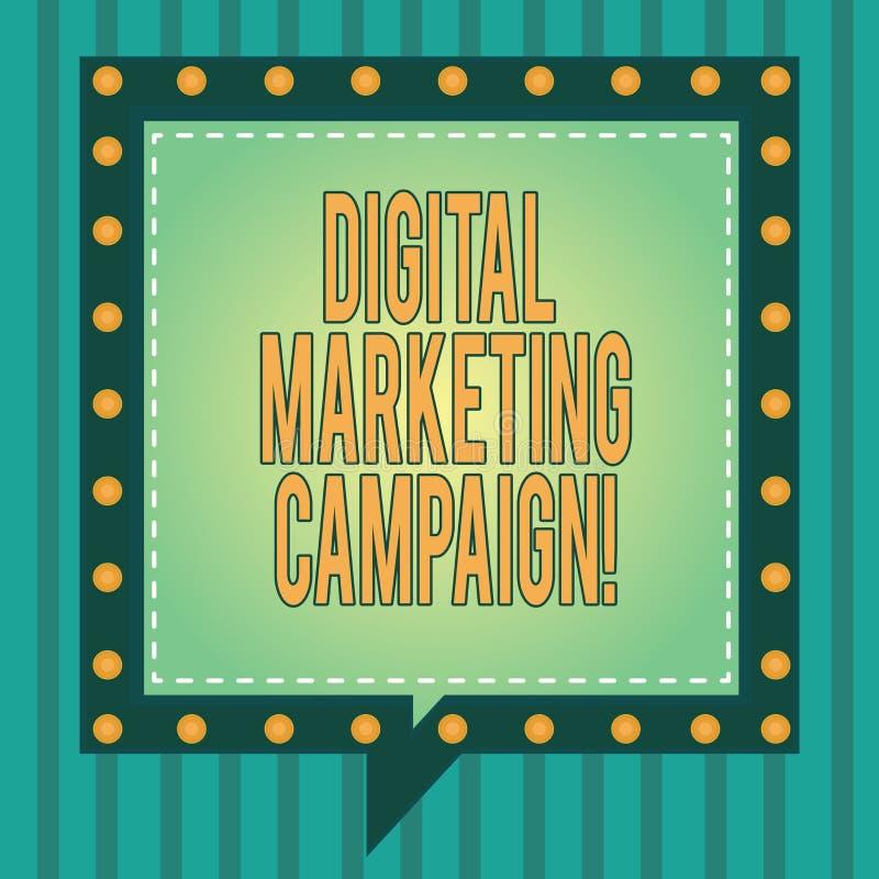 Campagne de marketing de Digital des textes d'écriture de Word Concept d'affaires pour que l'effort marketing en ligne annonce le illustration stock