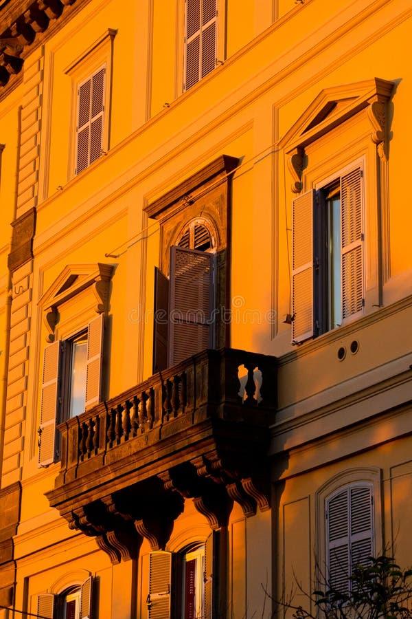 Campagne de Rome de coucher du soleil photo stock