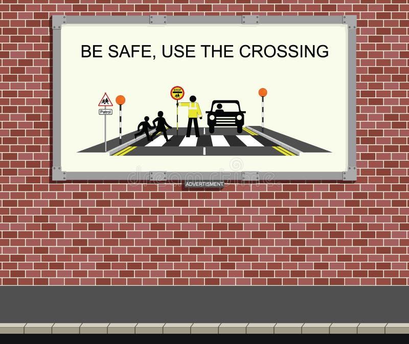 Campagne de sécurité routière illustration de vecteur