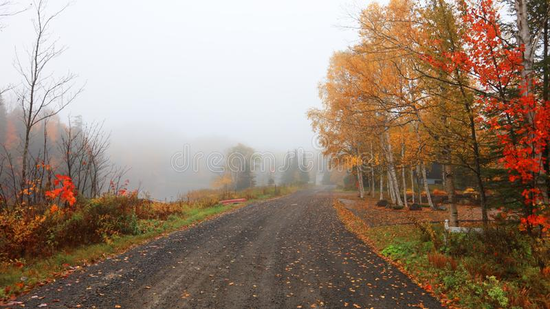 Campagne du Québec dans le temps d'automne photographie stock libre de droits
