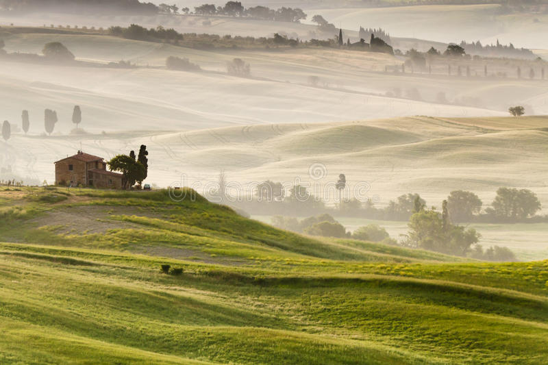 Campagne en Toscane, Italie photographie stock