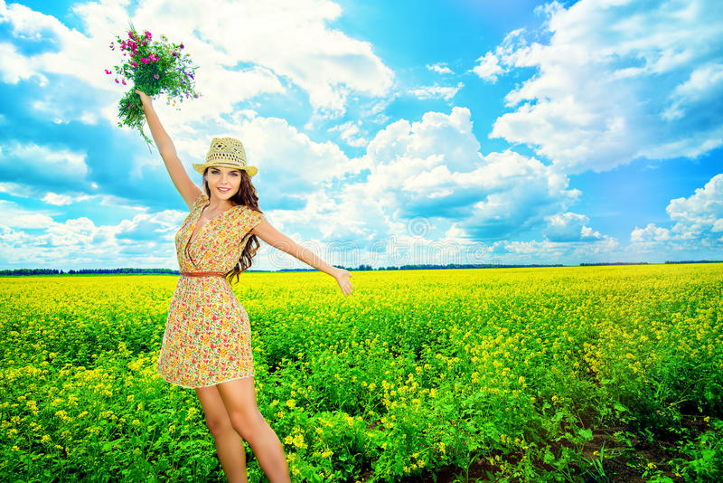 Campagne heureuse photo stock