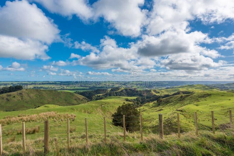 Campagne idyllique au Nouvelle-Zélande photo stock