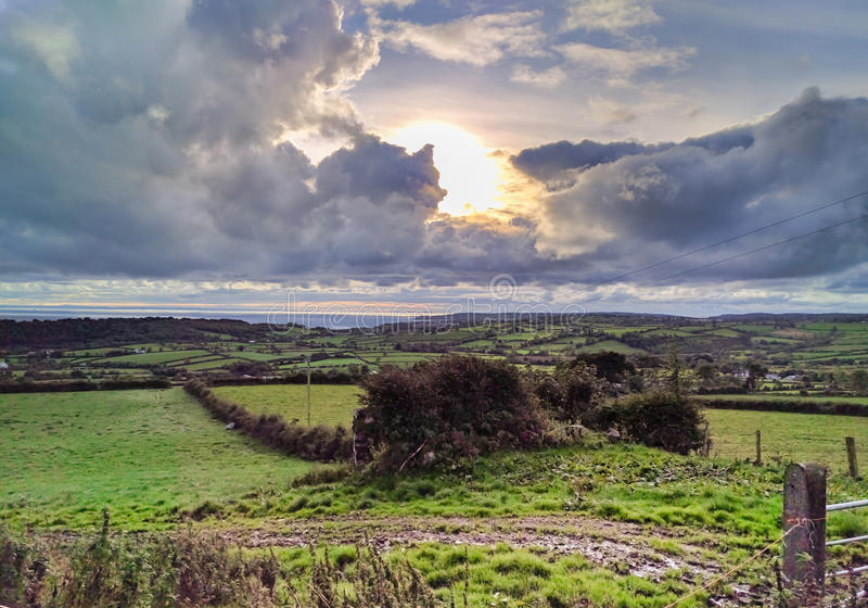 Campagne irlandaise du nord photo stock