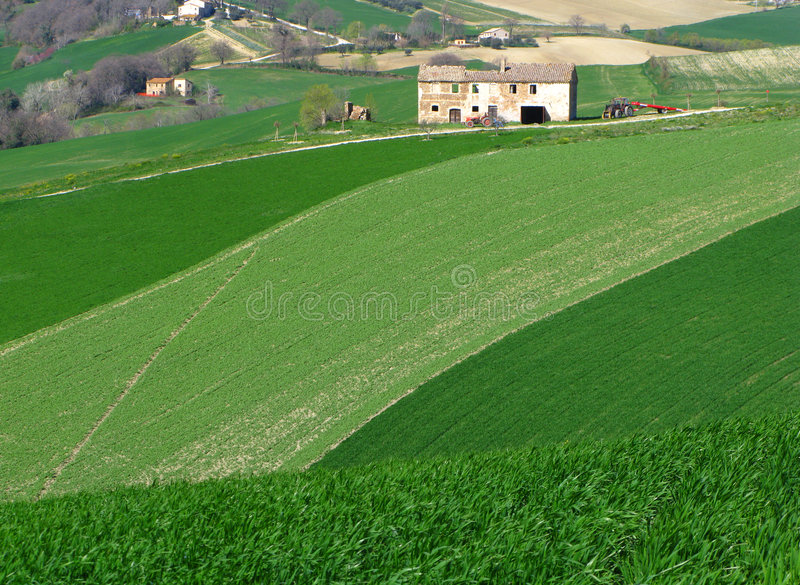 Campagne italienne photo stock