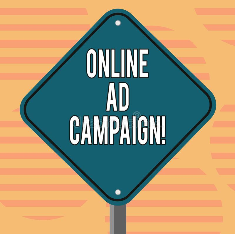 Campagne publicitaire en ligne des textes d'écriture de Word Concept d'affaires pour l'effort marketing proposé par engagement d' illustration de vecteur