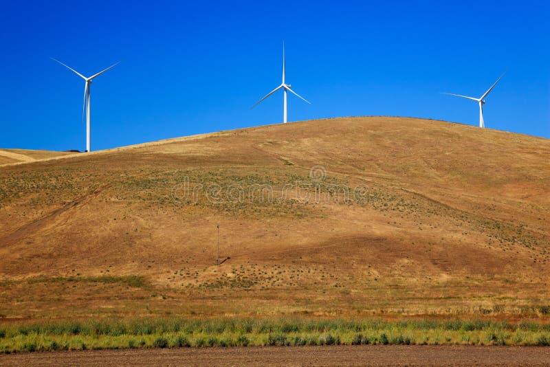 Campagne Washington de Palouse de turbines de vent image libre de droits