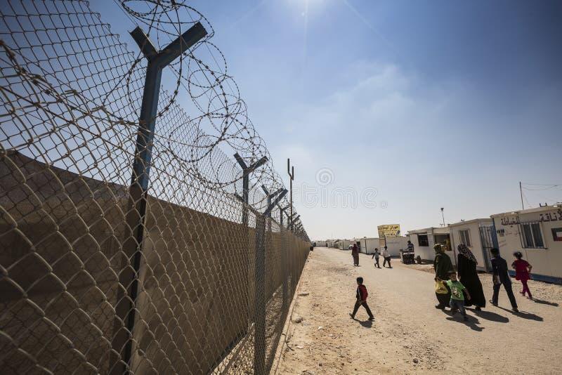 Campamento de refugiados de Al Zaatari imágenes de archivo libres de regalías