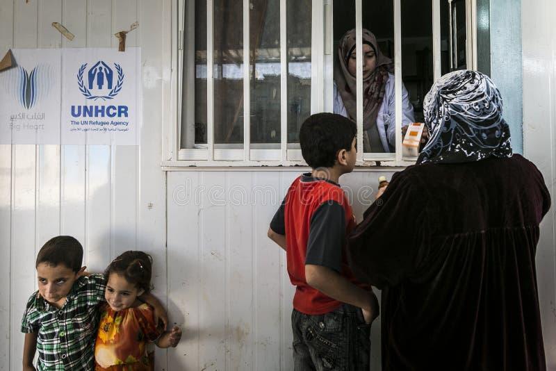 Campamento de refugiados de Al Zaatari foto de archivo libre de regalías