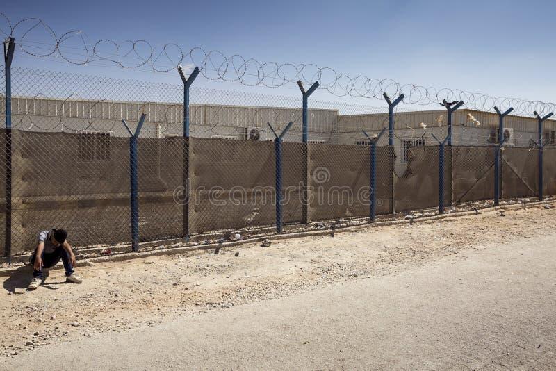 Campamento de refugiados de Al Zaatari fotografía de archivo libre de regalías