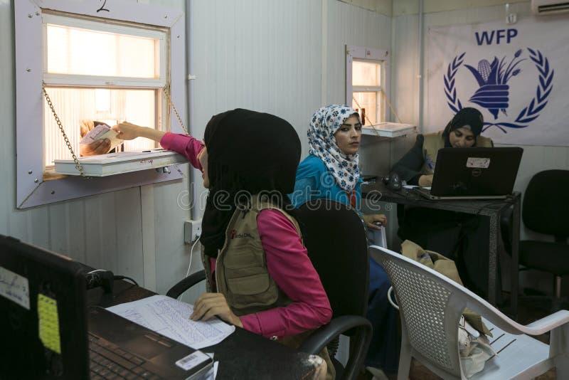 Campamento de refugiados de Al Zaatari fotografía de archivo
