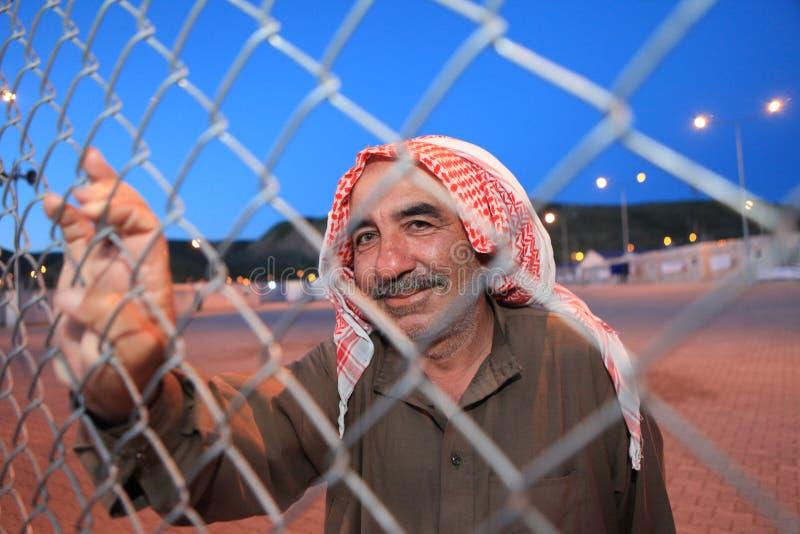 Campamento de refugiados sirio foto de archivo