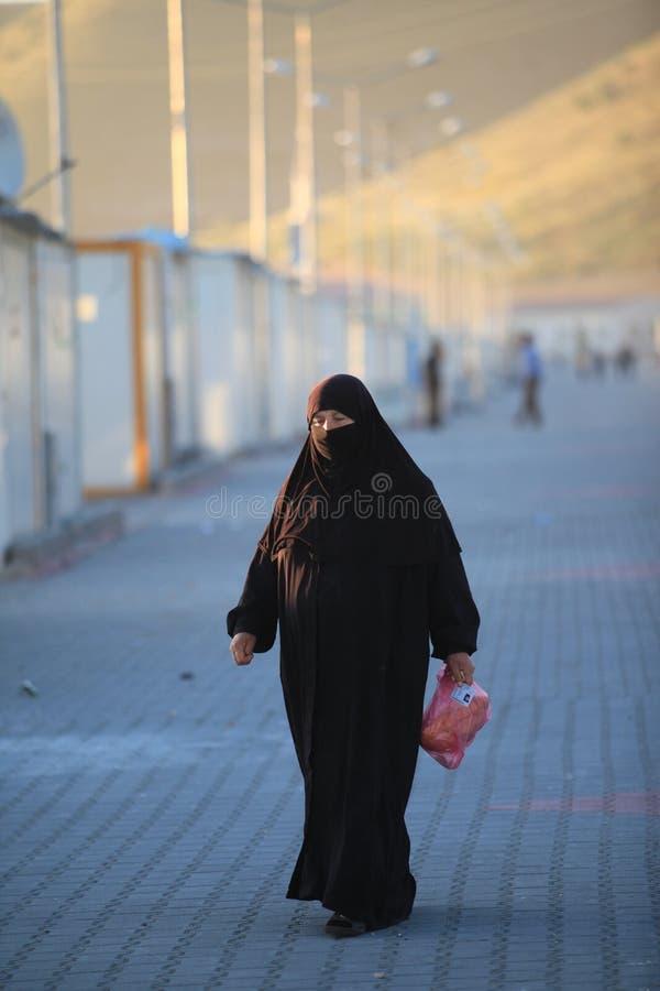 Campamento de refugiados sirio fotos de archivo libres de regalías