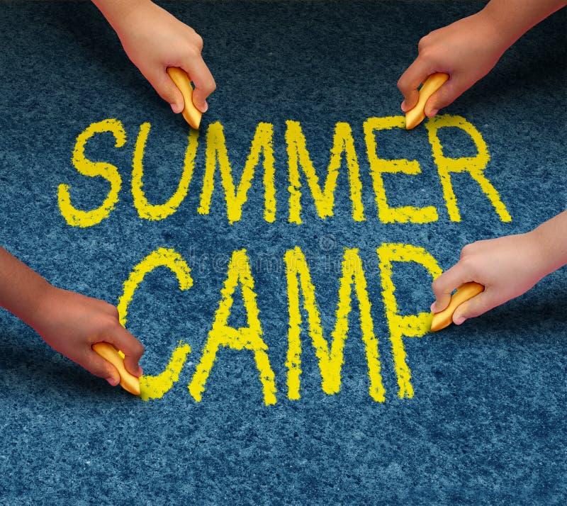 Campamento de verano stock de ilustración