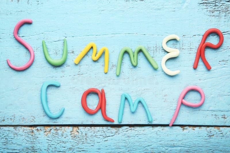 Campamento de verano de la inscripción foto de archivo libre de regalías