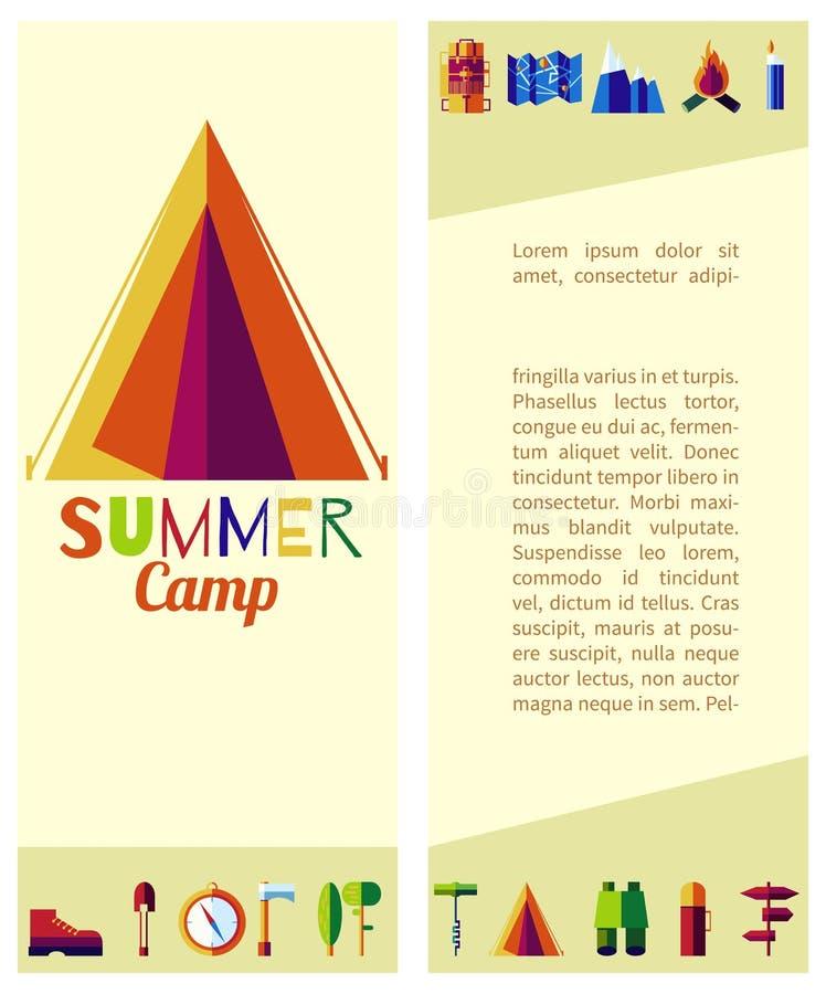 Campamento de verano plano libre illustration